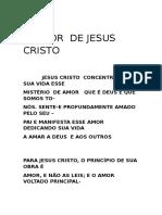 o Amor de Jesus Cristo