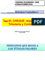 EL CHEQUE-Implicancia Tributaria y Contable