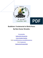 Buddhism Fundamental to World Peace