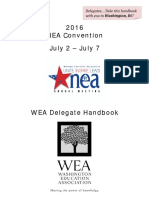 2016 Washington Delegate Handbook NEA RA