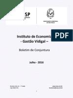 Boletim de Conjuntura ACSP Julho 2016