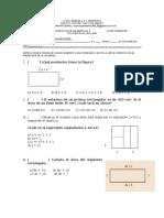 Examen de Recuperacion Del Cuarto Bimestre Matematicas II