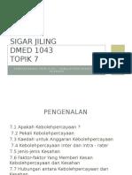Dmed 1043 - Topik 7 - Sigar
