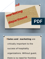 sales and marketing depdrtment