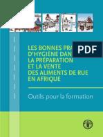 Les Bonnes Pratiques de La Vente Des Aliments de Rue en Afrique (FAO)
