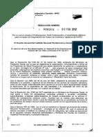 RESOLUCION 305 de 2012 Se Adopta El Profesiograma Perfil e Inhabilidades Medicas Para El Empleo de DRAGONEANTES