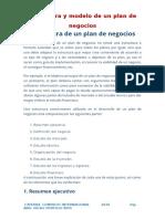 Estructura de Plan de Negocios - 2016
