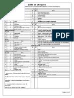 Lista Chequeo Campamento