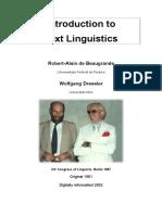 Beaugrande, R. & Dressler, W. Introduction to Text Linguistics