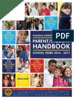 2016-2017 PUSD Parent Student Handbook