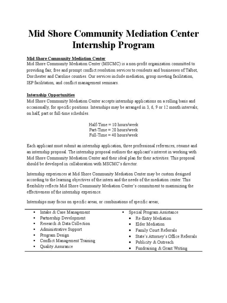 internship for website   Internship   Mediation