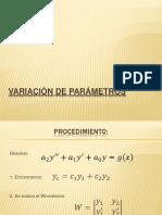 Variación de Parámetros (1)