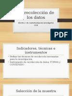 2. La Recolección de Los Datos - Observación y Entrevista