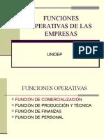 Funciones Operativas de Las Empresas
