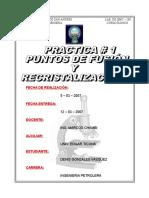 Informe de Qmc - 200 Organica