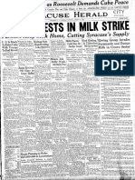 Milk Strike, August 1933