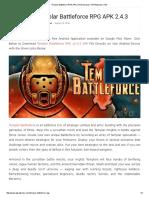 Templar Battleforce RPG APK