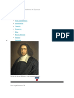 La Filosofía y Las Reflexiones de Spinoza