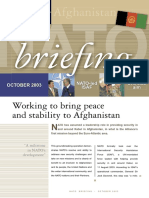 Working to Bring Peace and Stability to Afghanistan (NATO 2003)