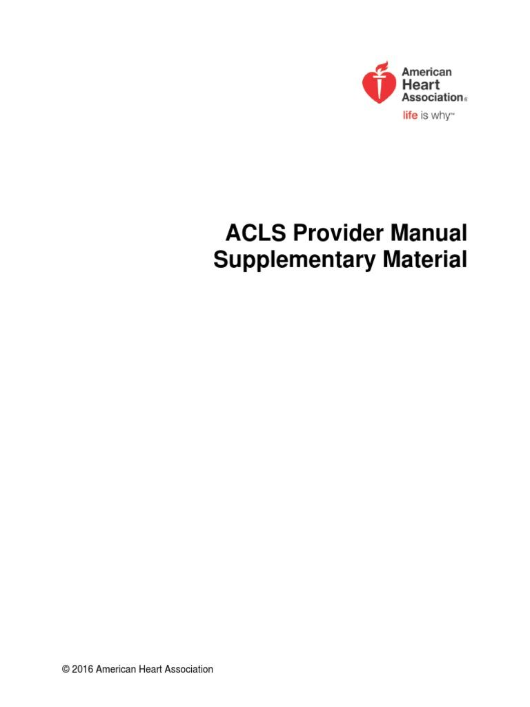 acls supplementary material cardiopulmonary resuscitation wellness rh es scribd com ACLS Manual 2013 ACLS Provider Algorithms