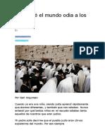 Por Qué El Mundo Odia a Los Judíos