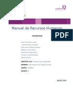 """Parte III FinalManual de RH """"Qualitas"""" Equipo 3"""