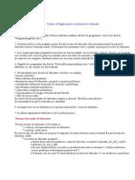 Cerinte Reguli Activitate Laborator
