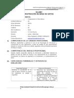Syllabus de Administracion de Base de Datos