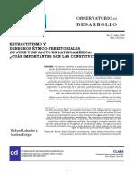 EXTRACTIVISMO Y DERECHOS ÉTNICO-TERRITORIALES DE JURE Y DE FACTO EN LATINOAMÉRICA