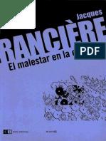 El Malestar en La Estetica. Jacques Ranc