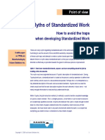 Myths About Standardised Work