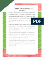 Articulo Dia Del Psicologo