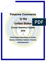 Firearm Commerce in the United States 2016 Annual Statistical Update