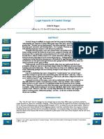 Legal Aspects of Coastal Change