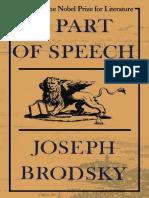 Brodsky, Joseph - A Part of Speech (FSG, 1980)