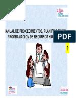 Indicador 22 Manual 1 de Procedimiento Planificacion Programacion de RRHH HSS