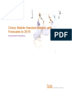 China Mobile Handset Market With Forecasts to 2015 EXTRACT