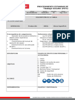 SGI-PR-SSM-XXX Procedimiento Estandar de Trabajo Seguro (PETS) Blanco