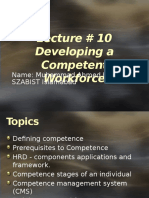Lecture 10 Developing a Competent Workforce