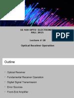 EE 430 OptoElec Lecture 18