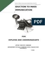 Introduction to Mass Communication- Apuke Destiny Oberiri (2016)