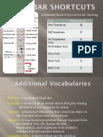 unit 3 tool bar shortcuts