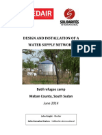 Report on Design and Installation of Batil Water Network