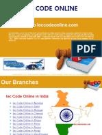 Apply Import Export Code India Online