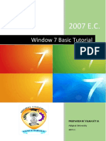 Win7 Basic Tutorial