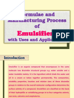 Formulae and Manufacturing Process of Emulsifiers with Uses and Applications
