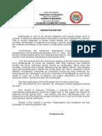 Narrative Report on Earthquake Drill