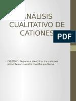 Análisis Cualitativo de Cationes