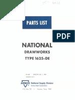 Drawwork 1625 manual