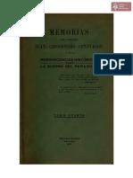 Memorias del Coronel Juan Crisóstomo Centurión o sea Reminiscencias Históricas sobre la Guerra del Paraguay Tomo Segundo, Asunción año 1901 Imp. Militar